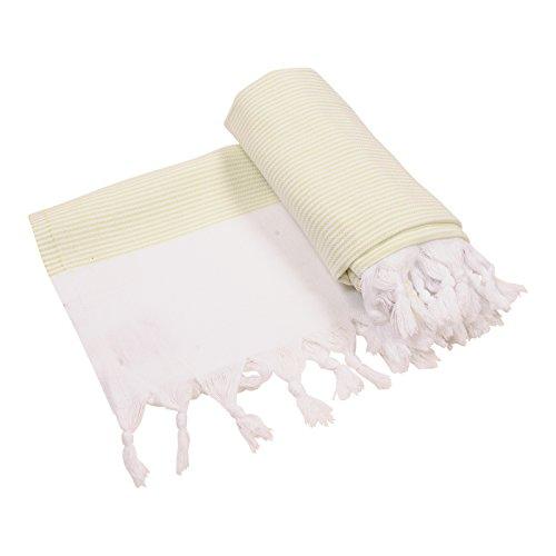 Lime Spa - Anatolia Towel Ephesus Collection Turkish Towel Peshtemal Fouta Bath Towel Beach Towel Swimsuit Cover Up Pool Travel Spa 100% Cotton 39