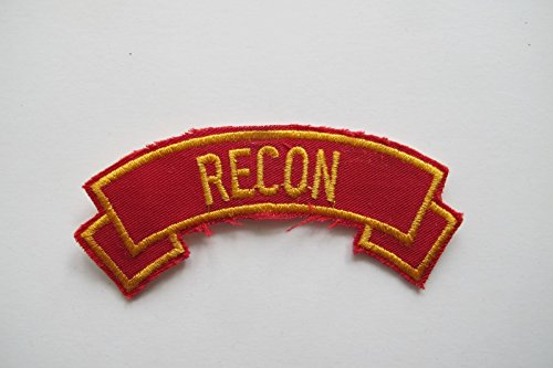 RECON Word Tag Embroidery Sew On Applique Patch by ade_patch
