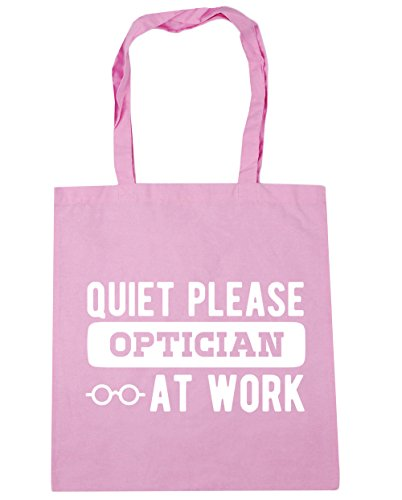 Beach 10 litres HippoWarehouse Quiet Classic Gym work 42cm Tote Pink at please x38cm Shopping optician Bag f8rBWO8cH