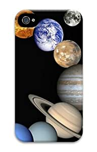 Iphone 4 4s 3D PC Hard Shell Case Solar System by Sallylotus