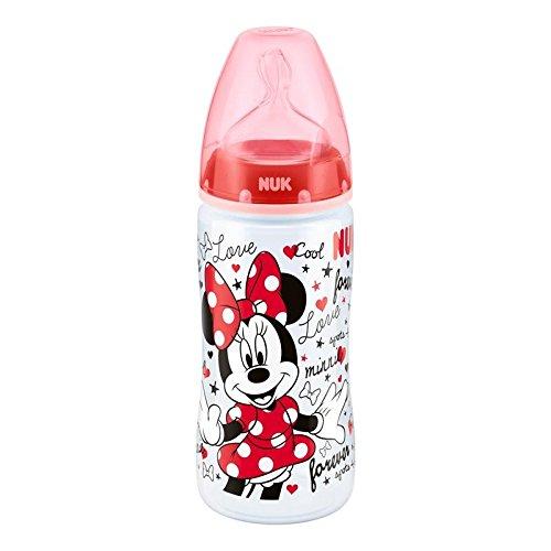 Nuk Disney Minnie Mouse First Choice + Biberon en Polypropylè ne, 300 ml, avec Anti Colic Bec Té tine en silicone Taille 2 m, dè s 6– 18 mois 300ml avec Anti Colic Bec Tétine en silicone Taille 2m dès 6-18moi