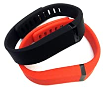 Replacement Wrist Band for Fitbit Flex (Large) (orange+black)