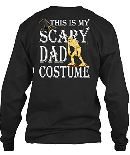CLTEE Dad - This is My Scary Dad Costume T Shirt, Funny Halloween T Shirt Long (L,Black)