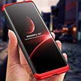 True Desire Back Case Cover for Huawei Mate 20 Pro,360 Degree Protection Full Edge Back Cover for Huawei Mate 20 Pro- Red & Black