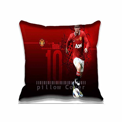 Wayne Rooney Manchester United Pillow Cases Printed Cute game Pillow Shams Comforter Bedroom & Living Room Decorative Bed Pillow Covers Two Sides