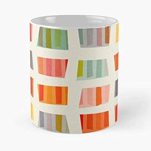 - Beach Summer Colorful - Coffee Mugs Unique Ceramic Novelty Cup