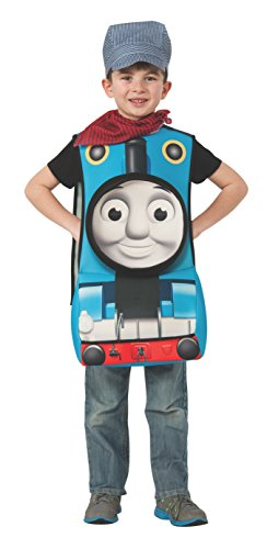 [Rubies Thomas and Friends Deluxe 3D Thomas The Tank Engine Costume, Child Small] (Toddler Conductor Outfit)
