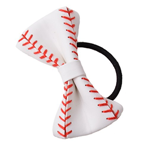 L&N Rainbery Baseball Hair Accessories Girls Hair Ties Perfect for Baseball Player Baseball Teams (Baseball Bows)