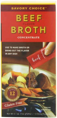 Savory Choice Liquid Beef Broth Concentrate, 5.1-Ounce Boxes (Pack of 4)