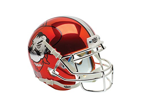 NCAA Oklahoma State Cowboys University Orange Chrome Authentic Helmet, One Size by Schutt