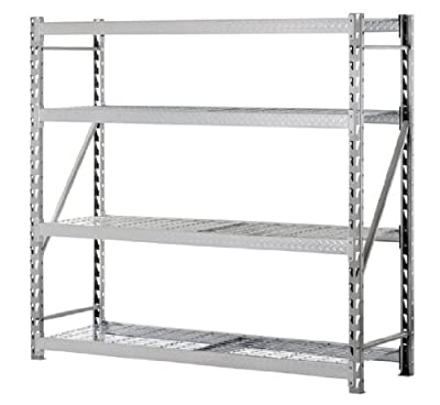 Muscle Rack TP722472W3 3-Shelf Steel Treadplate Welded Rack, Silver