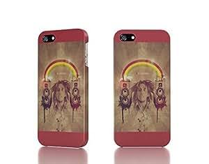 Apple iPhone 4 / 4S Case - The Best 3D Full Wrap iPhone Case - speakers rainbows bob marley rasta