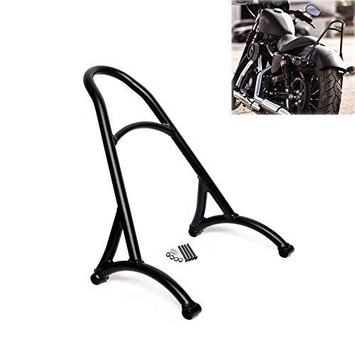 - AQIMY Black Motorcycle Short Passenger Sissy Bar Backrest for Harley Sportster Iron XL 883 1200 48 2004-2017 Universal