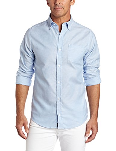 Lee Uniforms Men's Long Sleeve Oxford Shirt, Light Blue, ()