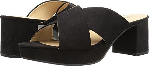CL by Chinese Laundry Women's Kismet Platform Slide Sandal, Black Super Suede,  8 M US