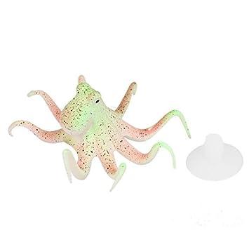 DealMux silicona brillante efecto de acuario adorno de pulpo Pecera: Amazon.es: Productos para mascotas