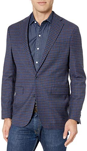 [해외]Cole Haan Men`s Slim Fit Blazer Medium Blue 36R / Cole Haan Men`s Slim Fit Blazer Medium Blue 36R