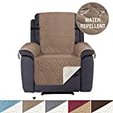 H.VERSAILTEX Slip-Resistant Sofa Recliner Cover Recliner Slipcover Furniture Protector, Seat Width Up to 22', Cotton Like Material, 2' Thick Straps, Perfect for Kids,Pets (Recliner, Taupe/Beige)