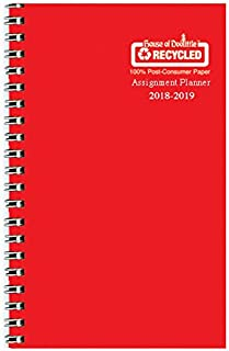 product image for House of Doolittle 2018-2019 Weekly Academic Planner Assignment Book, Red Vinyl, 5 x 8 Inches, August - August (HOD274RTG25 19)