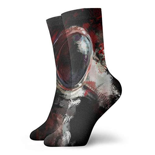 YUANSHAN Socks Mysterious Astronaut Women & Men Socks Soccer Sock Sport Tube Stockings Length 11.8Inch]()