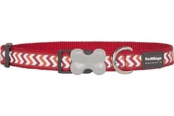Red Dingo Reflective Ziggy Dog Collar