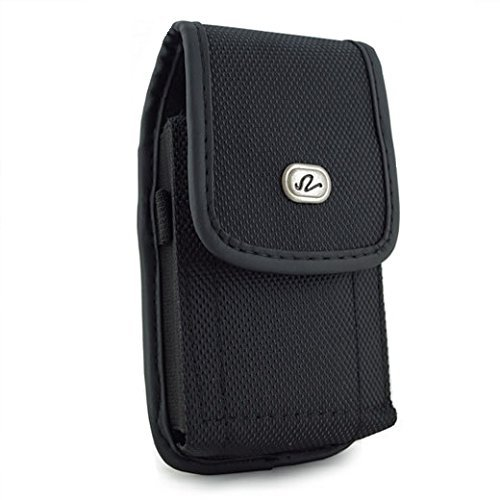 Heavy Duty Extra Large Vertical Smart Phone Case / Pouch / Holster with Belt Loop, Belt Clip and