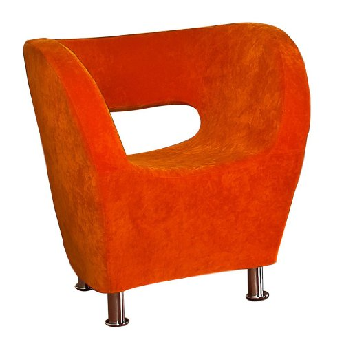 Christopher Knight Home 258647 Salazar Modern Design Accent Chair, Orange