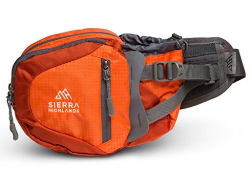 (Sierra Highlands Marlette Hiking Fanny Pack Waist Bag with Water Bottle Holder/Carry Your Cell Phone, Sunscreen, Keys, Wallet, and More! (Orange))