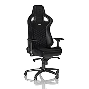 noblechairs Epic Gaming Chair - Office Chair - Desk Chair - PU Leather - Black/Blue