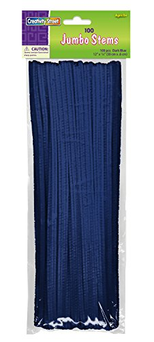 Creativity Street Chenille Stems/Pipe Cleaners 12 Inch x 6mm 100-Piece, Blue