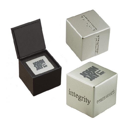 John Jay College Icon Inspiration Cube 'Official Logo Engraved' by CollegeFanGear