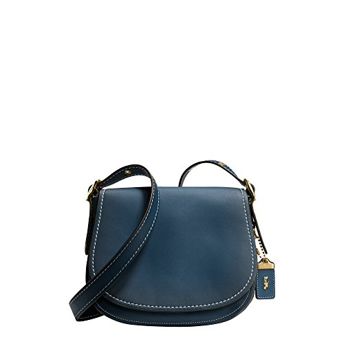 Coach 1941 collection Burnished Saddle 23 in glovetanned leather Dark Denim 38198