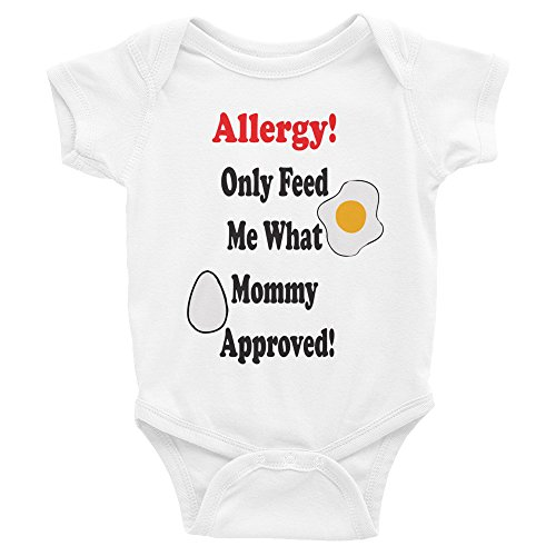 - Stitched from the Crypt Egg Allergy Only Feed me What Mommy Approved Baby Onesie Infant Bodysuit