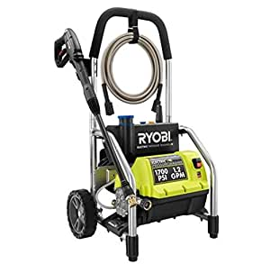 Ryobi RY14122 1700 PSI 1.2 GPM High Pressure Electric Power Washer w/3 Nozzles Certified Refurbished
