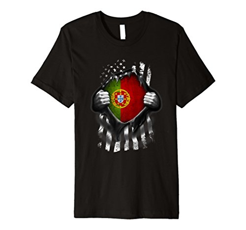 Portuguese American Flag T Shirt. Portugal Heritage DNA