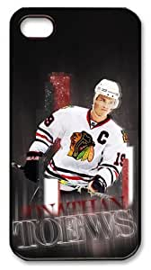 icasepersonalized Personalized Protective Case for iphone 4 - NHL Chicago Blackhawks #19 JONATHAN TOEWS by runtopwell