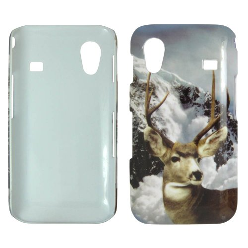 Samsung Galaxy Ace S5830 - Deer Snow and Mountain Sceen Hard Case, Cover, Snap On, Faceplate + Free (Samsung Galaxy Ace S5830)