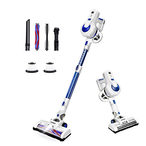 Cordless Vacuum Cleaner, 2 in 1 Stick Handheld Vacuum Cleaner, 18Kpa Lightweight Cleaning Vacuum, LED Light, Two HEPA, Carpet Brush, Hard Floor Brush for Home, Care, Pet Hair – New Telescopic Tube
