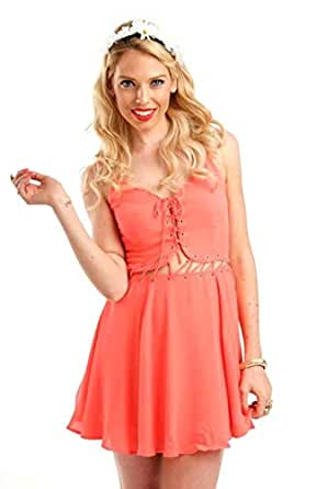 Hipster Yah7024-s Night Out Dress For Women - S, Pink