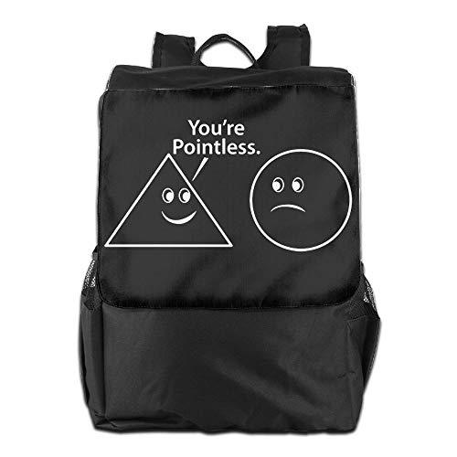 Lamont Rhea You're Pointless Funny Math Sarcastic Messenger Bag Shoulder Backpack Travel Hiking Rucksack for Womens Mens Boys Girls School Bookbags One Size ()