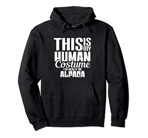 I'm Really An Alpaca Halloween Costume Hoodie Funny idea -