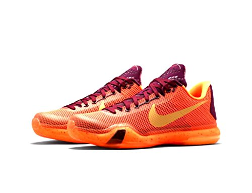 new products 8ea25 aa88d Galleon - NIKE Kobe X 10 Merlot Metallic Gold - Villain Red - Total Orange  Men s Basketball Shoes Size 12