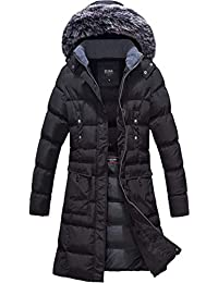 Women's Winter Puffer Mid Length Cargo Pocket Coat Fur Trim Removable Hood