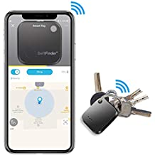 Key Finder,Phone Finder,Bluetooth Tracking Locator for Keys,Wallet,Bag,Luggage,with App Control,Smart Anti Lost Alarm,for iPhone iOS/Android Compatible[Replaceable Battery with Long Standby Time]