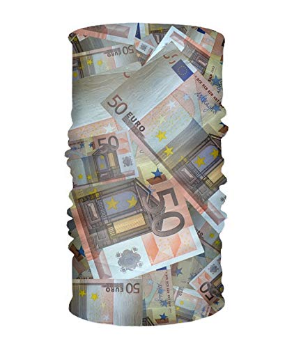 Magic Headwear Money Bank Note Euro Currency Men&Women Tube Scarf Facemask Headbands Neck Gaiter Bandana Balaclava Helmet For Outdoor Running Yoga Work Out