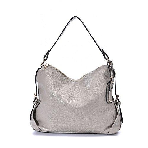 Leather Tote Bag,DDDH Hobo Bags Purses Shoulder Handbag For Women(Beige)