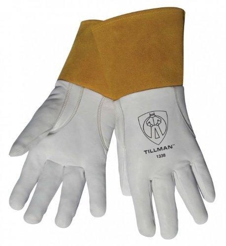 - Tillman 1338 Top Grain Goatskin TIG Welding Gloves with 4 Cuff, X-Large by Tillman