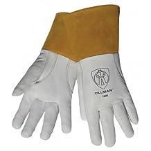 Tillman 1338 Top Grain Goatskin TIG Welding Gloves with 4 Cuff, X-Large by Tillman