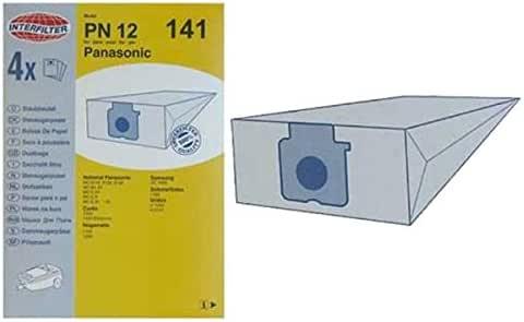 Panasonic - Lote de 4 bolsas de microfibras para aspirador ...