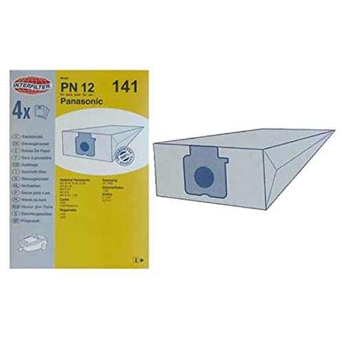 Caja de 4 bolsas microfibras aspirador Panasonic MC80 ...